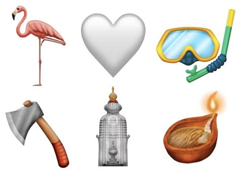 2019 Emoji Candidates Include Flamingo, White Heart