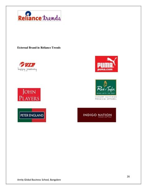 reliance trends internship project reliance trends internship project