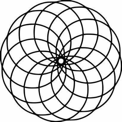 Mandala Svg Pixels Flower Wikimedia Commons Circles