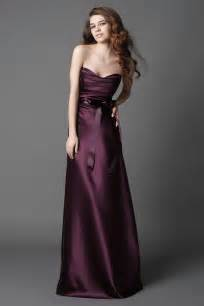 plum bridesmaid dress 2011 plum strapless sash a line silhouette length bridesmaid dress prlog