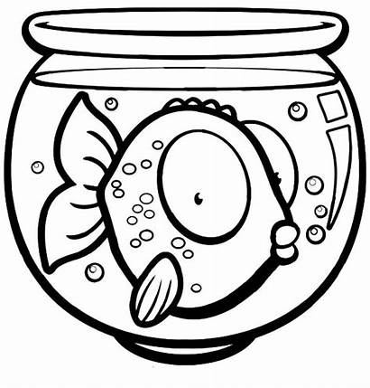 Fish Coloring Bowl Eyed Pages Cereal Goldfish