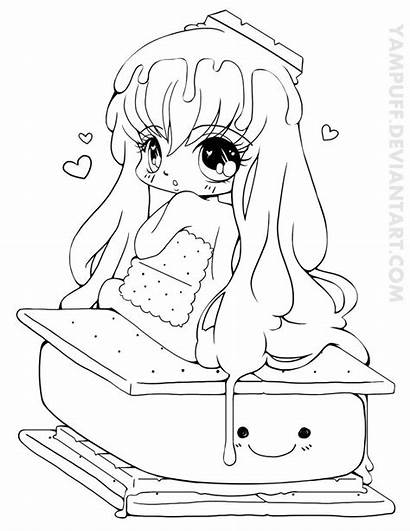 Coloring Yampuff Chibi Pages Deviantart Lineart Commission