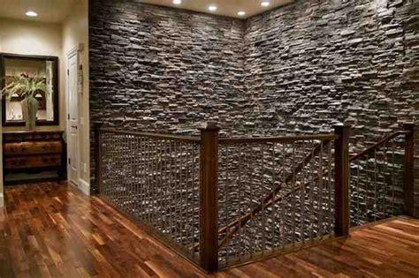 faux stone interior wall decor ideas