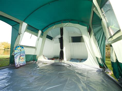 tente tunnel 3 chambres skandika hurricane 8 person family tunnel tent large
