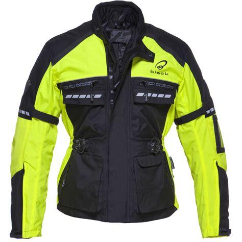 fluorescent bike jacket black tourmaster waterproof breathable motorcycle