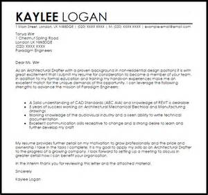 architectural drafter cover letter sle livecareer
