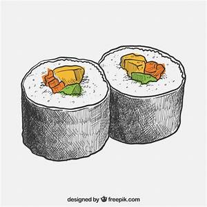 Hand drawn sushi Vector | Free Download