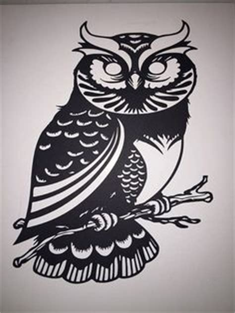 owl silhouette template owl clip art black  white