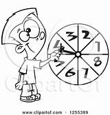Probability Wheel Clipart Spinning Boy Illustration Royalty Toonaday Vector Math Coloring Leishman Ron Pages Caucasian Running Chart Template Regarding Notes sketch template