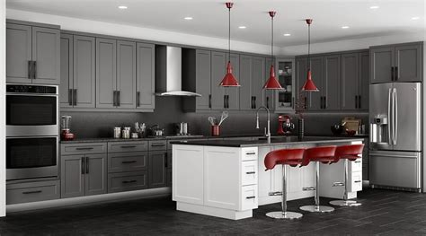 stone grey shaker kitchen cabinets rta cabinet store