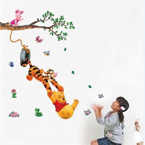 décoration chambre bébé winnie l ourson winnie l 39 ourson stickers muraux pépinière garçon enfants
