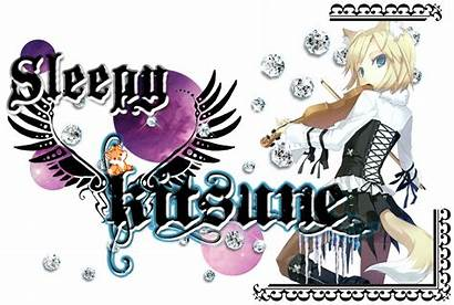 Kitsune Types Gyaru Sleepy Hyui Please