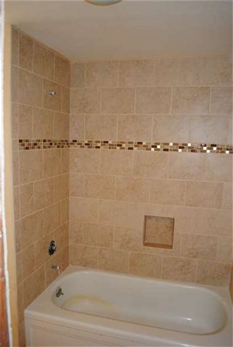 mosaic in the tub shower wall tile bathroom