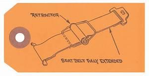 1960 Full Size Seat Belt Instruction Tag
