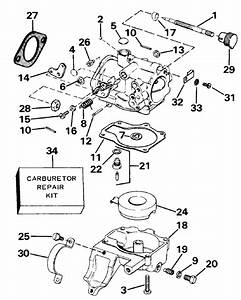 Johnson Carburetor Parts For 1986 25hp J25elcdr Outboard Motor