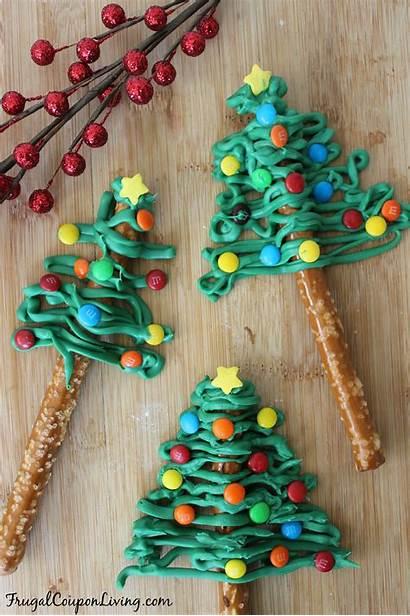 Christmas Pretzel Chocolate Trees Treats Tree Holiday