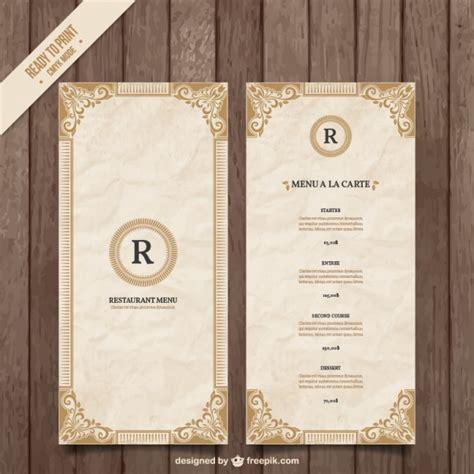 menu design template ornamental menu template vector free