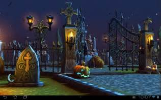 Halloween Live Wallpaper Android App halloween cemetery 3d lwp android apps on google play