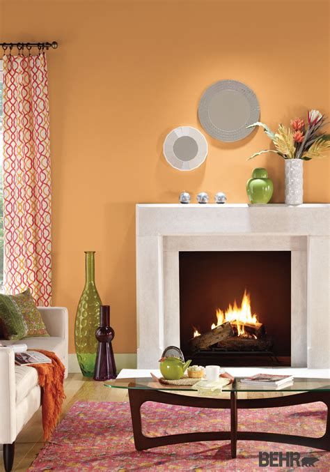 Behr Paint In Cheerful Tangerine Makes The Base For This