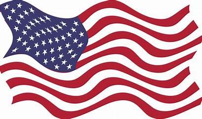 Flag American Clipart Clip Breezy Waving Transparent