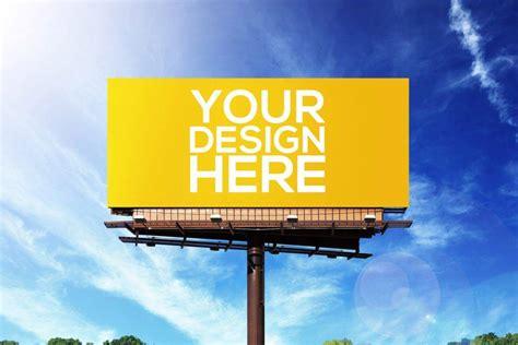examples  minimal billboard advertising psd ai