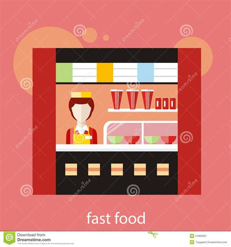 How To Make Fast Food Sound On A Resume by Fast Food Restaurant Stock Vector Image 51684007