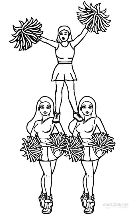 printable cheerleading coloring pages  kids coolbkids