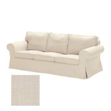 ikea ektorp 3 seat sofa slipcover cover svanby beige linen