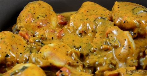 patty saveurs cocotte de poulet sauce stroganoff