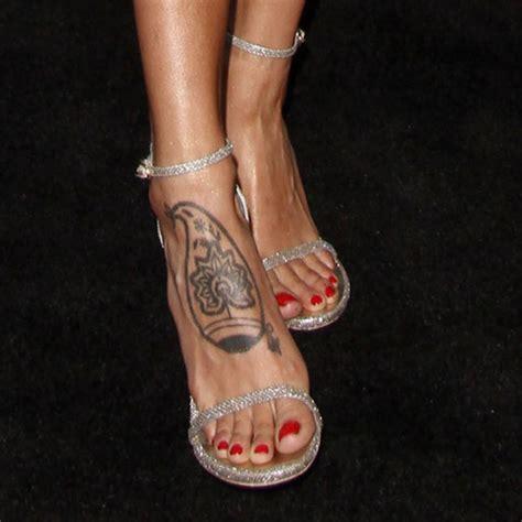eiza gonzalez tree tribal design foot tattoo steal