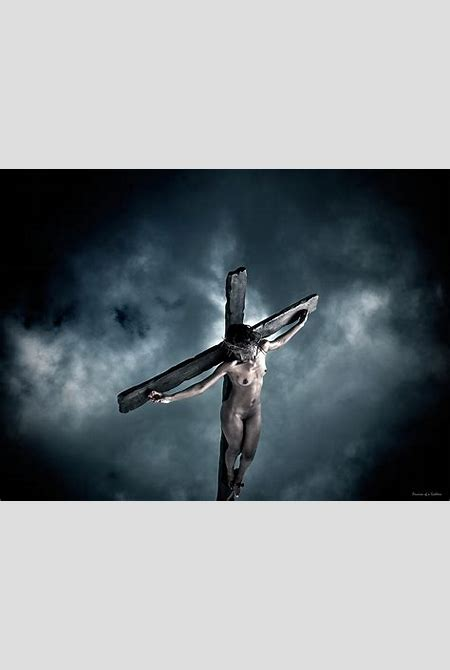 Black Crucified Jesus Photograph by Ramon Martinez