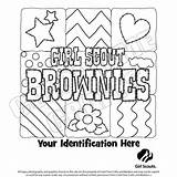 Coloring Scout Junior Scouts Brownie Sheets sketch template