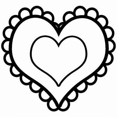 Heart Pages Coloring Printable Hearts Sheets Clipart