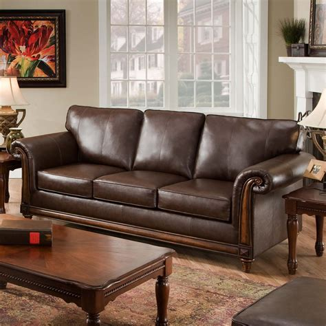 Loveseat Sectional Sofa by Simmons San Diego Coffee Leather Sofa Sofas Loveseats