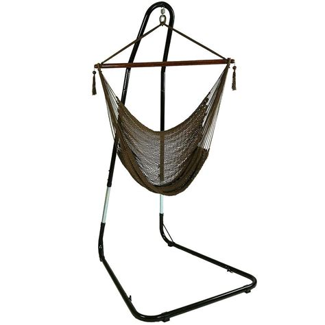 Hammock Chair With Stand by Sunnydaze Decor 4 Ft Hanging Caribbean Xl Hammock Chair