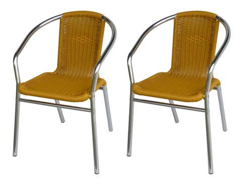 chaise de jardin en résine tressée lot 2 chaises jardin aluminium résine tressée lemonada