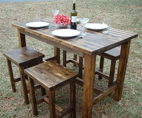 diy outdoor bar table ideas chairs seating