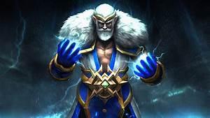 Dota 2 Heroes Zeus Magic Fighter Computer Games Desktop Hd