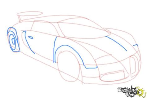 How to Draw a Bugatti - DrawingNow