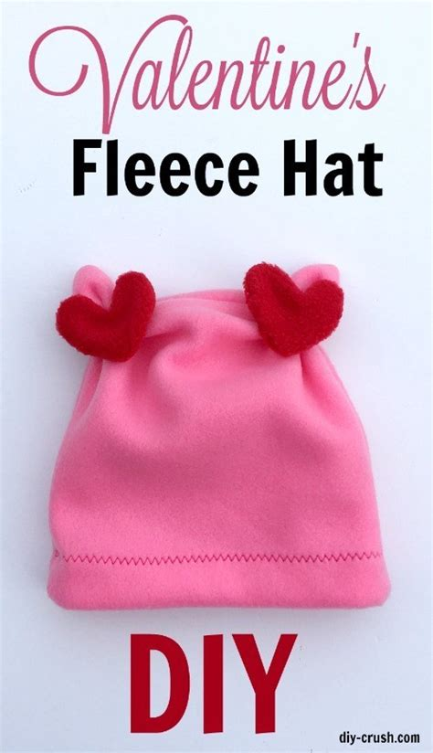 tutorial valentines day fleece hat sewing