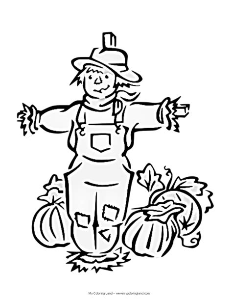 scarecrow coloring pages getcoloringpagescom