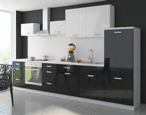 küche schwarz weiß küche color 340cm küchenzeile küchenblock einbauküche in hochglanz schwarz weiss küchen