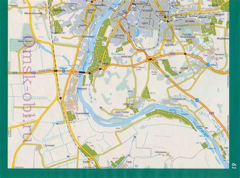 Омск. Карта Омска. Подробная карта города Омск, A1