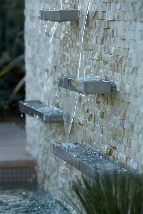 water feature for wall stainless steel water features pinterest
