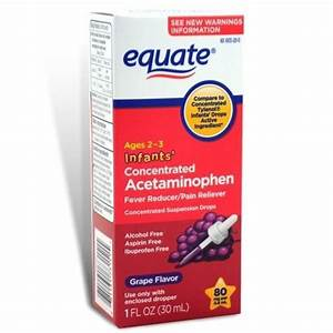 Equate   Pain Reliever Concentrated Infants U0026 39  Drops  Grape Flavor 1