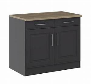 Küchen Unterschrank 40 Cm Breit : k chen unterschrank k ln 2 t rig 100 cm breit grau graphit k che k chen unterschr nke ~ Indierocktalk.com Haus und Dekorationen