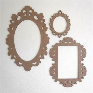 Decorative cardboard frame cut out baroque laser