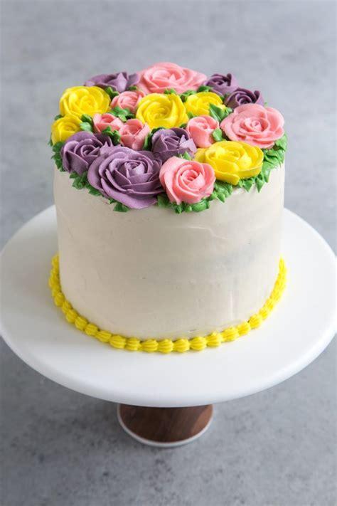 buttercream flowers cake   epicurean