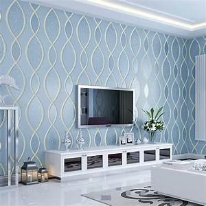 Environmental simple modern wall paper 3D wallpaper living ...