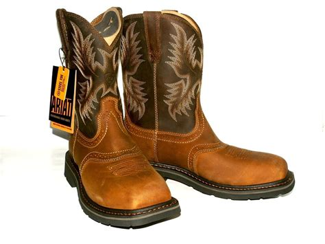 Square Toe Steel-safety ~ariat Men's 10010134 Aged Bark